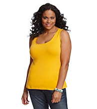 Relativity® Plus Size Scoopneck Tank