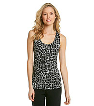 Relativity® Petites' Pleatneck Tank