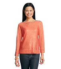 Alfred Dunner® Prince Street All Over Sequin Sweater
