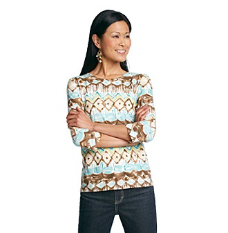 Alfred Dunner® Chelsea All Over Printed Shirt