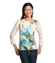 Alfred Dunner® Chelsea Flower Embellished Sweater