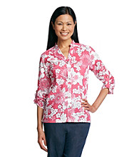 Alfred Dunner® South Hampton Floral Woven Shirt