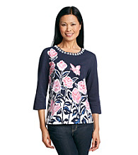 Alfred Dunner® South Hampton Floral Garden Top