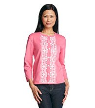 Alfred Dunner® South Hampton Embroidered Cardigan