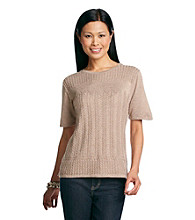Alfred Dunner® Chelsea Knit Detail Sweater