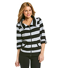 Exertek® Stripe French Terry Zip Jacket