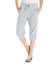 Exertek® French Terry Drawstring Elastic Crop Pant