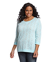 Ruff Hewn Plus Size Swirl Burnout Scoopneck Top