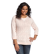 Ruff Hewn Plus Size Swirl Burnout Scoopneck
