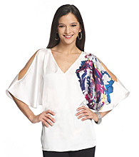 Kenneth Cole® Peony Print Dolman Top