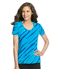 Laura Ashley® Diagonal Tie-Dye Tee