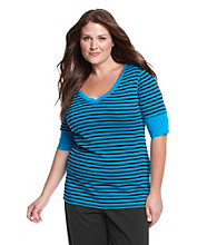 Calvin Klein Performance Plus Size V-Neck