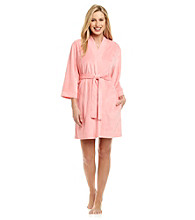 Jasmine Rose® Short Wrap Robe