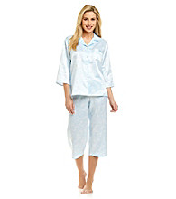 Miss Elaine® Peached Satin Pajama Set
