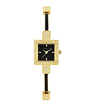 Anne Klein® Goldtone and Crystal Dress Watch