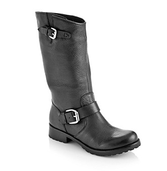 "Guess ""Raissa"" Mid-Calf Boot - Black Leather"
