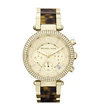 Michael Kors® Goldtone/Tortoise Parker Watch