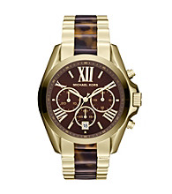 Michael Kors® Goldtone/Tortoise Bradshaw Watch