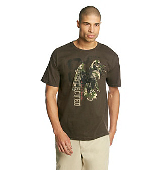 "Ruff Hewn Men's Dark Chocolate ""Camo Eagle"" Graphic Tee"