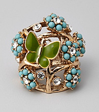 Erica Lyons® Blue Green Stretch Ring