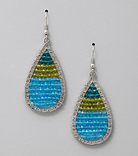 Erica Lyons® Blue Green Paradise Found Drop Pierced Earrings