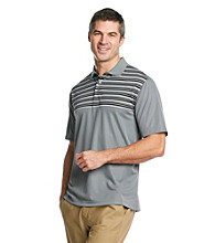 Kenneth Roberts Platinum® Men's Classic Light Grey Multi-Stripe Performance Polo