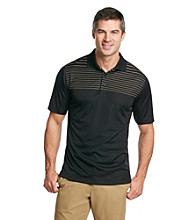 Kenneth Roberts Platinum® Men's Midnight Black Fine Stripe Performance Polo