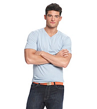 John Bartlett Consensus Men's Short Sleeve Solid V Neck Tee