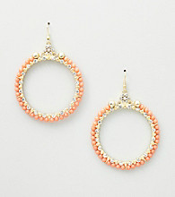 Erica Lyons® Coral Sea Cruise Hoop Pierced Earrings