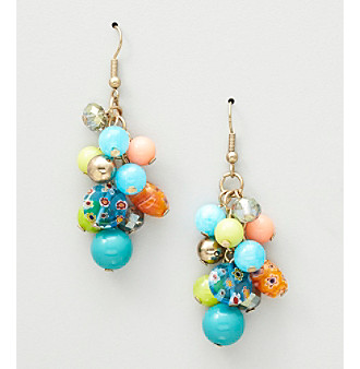 Erica Lyons® Turquoise Multi Sea Cruise Drop Pierced Earrings