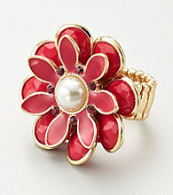 Erica Lyons® Pink Stretch Ring