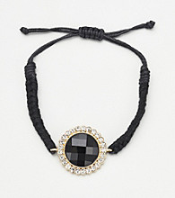 Erica Lyons® Black Friendship Bracelet