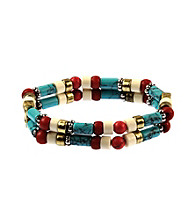Nine West Vintage America Collection® Multi Colored Stone Stretch Bracelet
