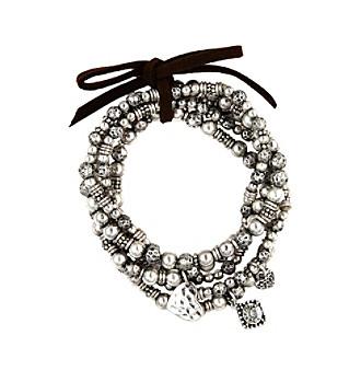 Nine West Vintage America Collection® Silvertone Stretch Charm Bracelet Set