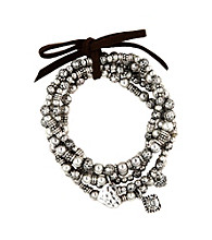Nine West Vintage America Collection® Silvertone Stretch Charm Bracelet Set
