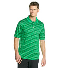 PGA TOUR® Men's Bright Green Short Sleeve Argyle Jacquard Polo