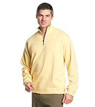 Tommy Bahama® Men's Wicker Yellow Flipside Pro Reversible Half Zip Sweatshirt