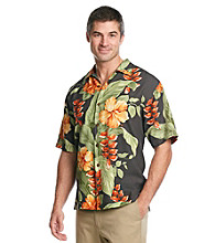 Tommy Bahama® Men's Coal Hibiscus Villa Camp Shirt