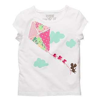 OshKosh B'Gosh® Baby Girls' White Short Sleeve Kite Tee