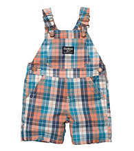 OshKosh B'Gosh® Baby Boys' Orange Plaid Shortall