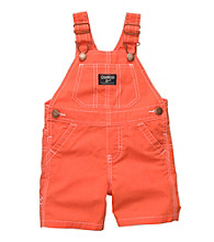 OshKosh B'Gosh® Baby Boys' Orange Solid Shortall