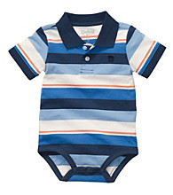 OshKosh B'Gosh® Baby Boys' Blue Short Sleeve Striped Polo