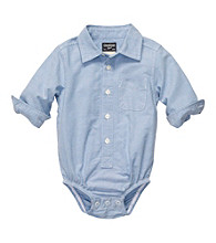 OshKosh B'Gosh® Baby Boys' Blue Chambray Long Sleeve Woven Bodysuit