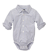 OshKosh B'Gosh® Baby Boys' Blue Striped Long Sleeve Woven Bodysuit