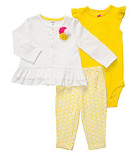 Carter's® Baby Girls' Yellow 3-pc. Cardigan Set