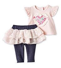 Vitamins Baby® Baby Girls' Pink 2-pc. Patchwork Tutu Skegging Set