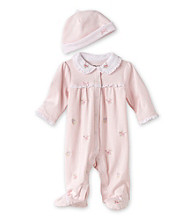 Little Me® Baby Girls' Pink Blossom Footie with Hat
