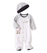Little Me® Baby Boys' White Safari Footie with Hat