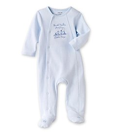 Little Me® Baby Boys' Blue Thanks Footie
