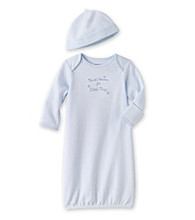 Little Me® Baby Boys' Blue Thanks Gown and Hat